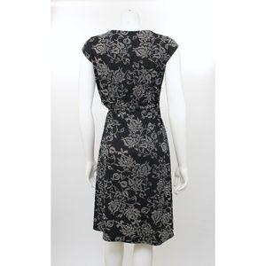 4d3e91a9e1 LOFT Dresses - Ann Taylor LOFT Petites Black Floral Jersey Dress